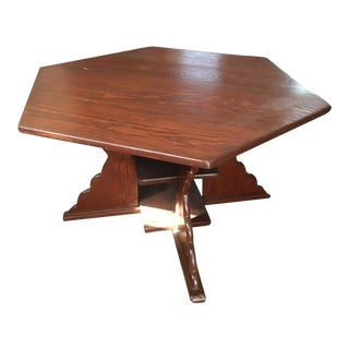 Antique Arts & Crafts Style Hexagonal Coffee Table