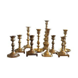 Brass Candlesticks - Set of 11