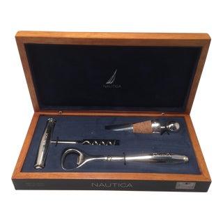 Men's Nautica Desk Valet Wine Gift Box Set