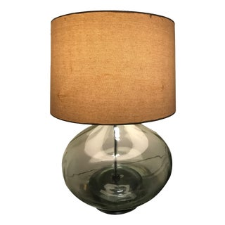 Vintage Green Glass Jar Table Lamp