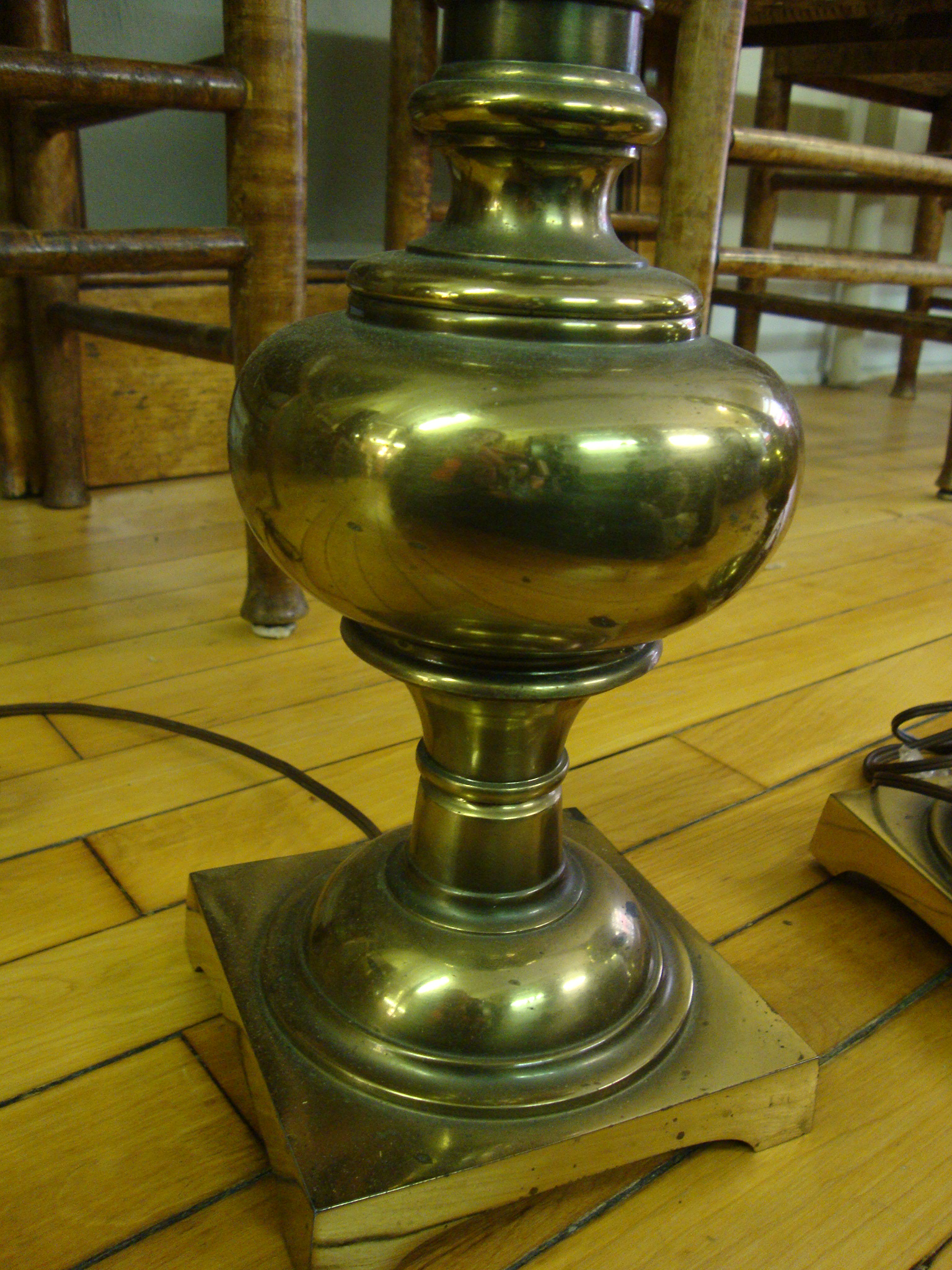 Stiffel vintage brass table lamps a pair chairish