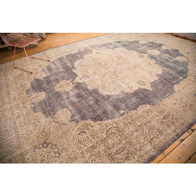 "Distressed Vintage Oushak Carpet - 9'9"" x 14'5"" - Image 7 of 7"
