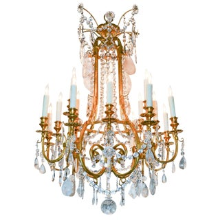 Fine 19th C. French Rock Crystal Chandelier