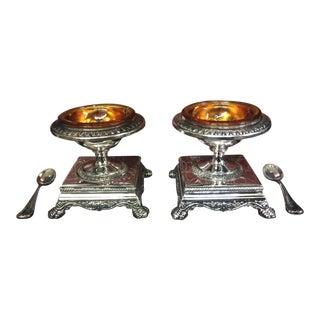 Neiman Marcus Godinger Pedestal Salt Cellars - A Pair
