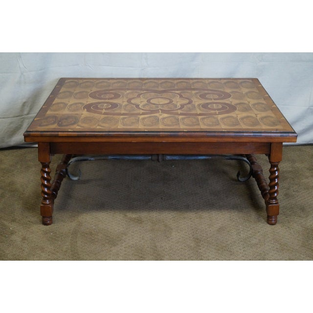 Image of Quality English Oyster Wood Large Coffee Table