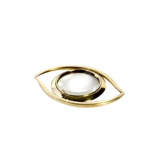 """""""Evil Eye"""" Brass Magnifying Glass Paperweight"""