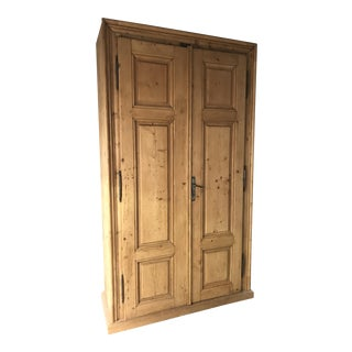 Handmade 1800s German Pine Armoire