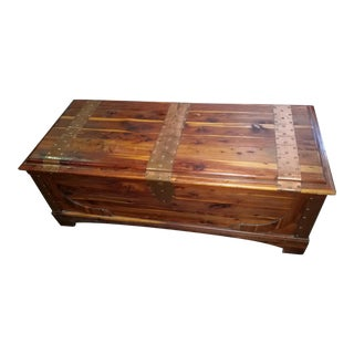 Wood Cedar Blanket Chest Trunk