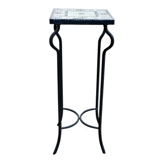 Tile Top & Iron Side Table
