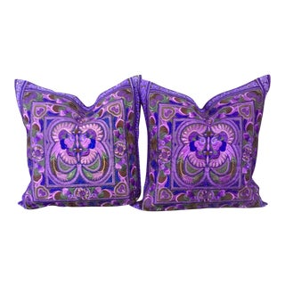 Embroidered Bohemian Decrative Pillows - a Pair