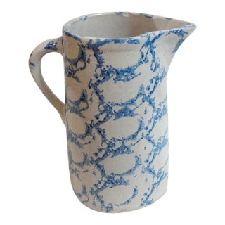 19th Century Design Spongeware Pitcher from Pennsylvania