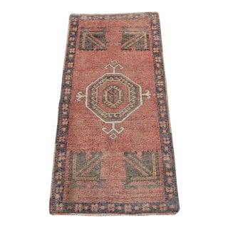 Vintage Oushak Tribal Rug - 1′8″ × 3′6″