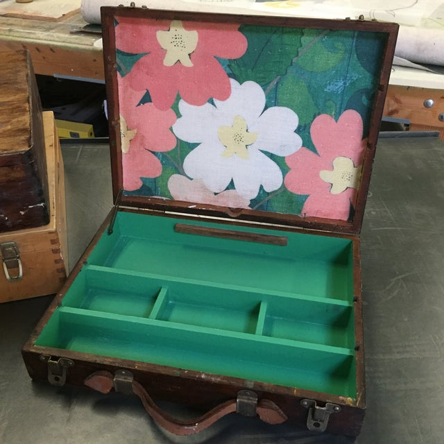 Vintage Artist Box With Green Interior - Image 2 of 7
