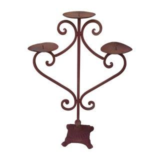 Boho Rustic Iron Candelabra