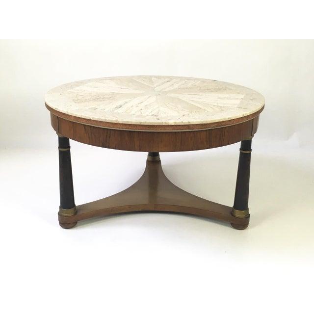 Hollywood Regency Marble Top Coffee Table - Image 8 of 9