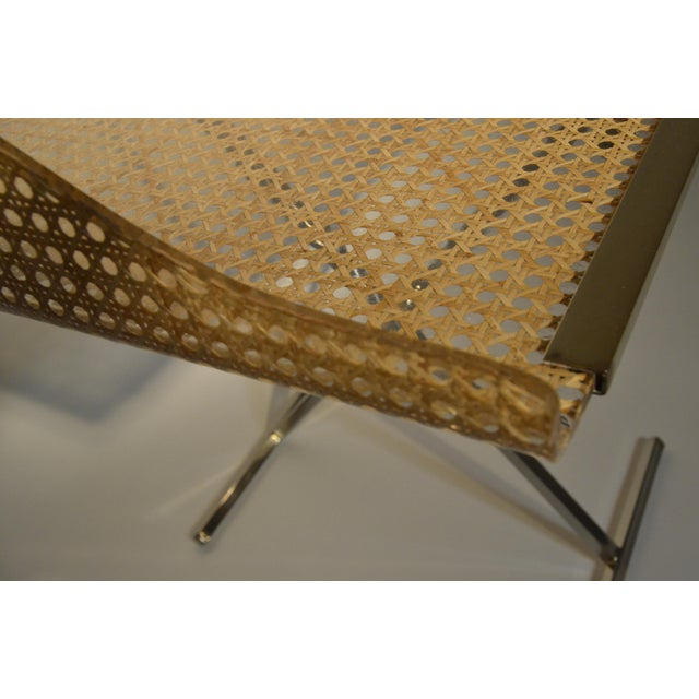 Gabriella Crespi for Dior Home Wicker and Brass Butler's Tray on Stand - Image 6 of 9
