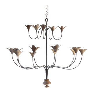 Iron & Tole Candle Chandelier