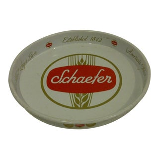 """Schaefer"" Beer Vintage Beverage Serving Tray Circa 1970"
