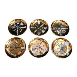Piero Fornasetti Posateria Ceramic Coasters - 6