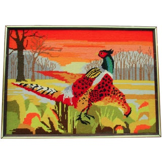 Needlepoint Pheasant Art