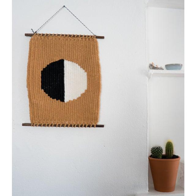Mustard, Black, & White Woven Wall Hanging - Image 2 of 4