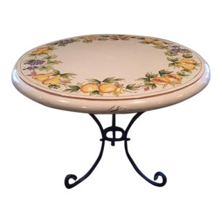 Italian Hand-Painted Wrought Iron Table