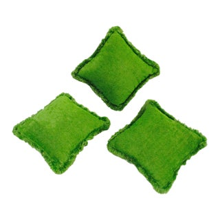 Moroccan Bohemian Lime Green Pillows - 3