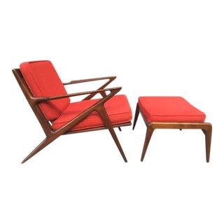 Poul Jensen Z Lounge Chair & Ottoman for Selig
