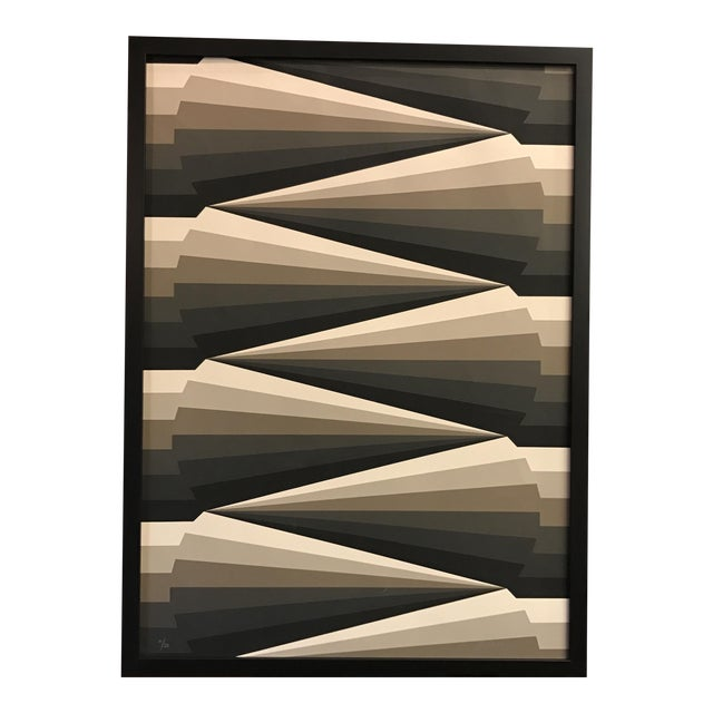 Framed Geometric Abstract Lithograph - Image 1 of 7