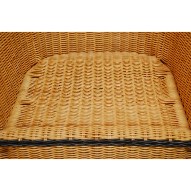 French Grange Style Rattan Club Chairs - A Pair - Image 6 of 7