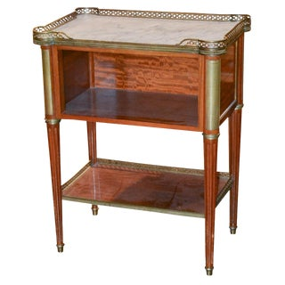 French Directoire Mahogany Side Table