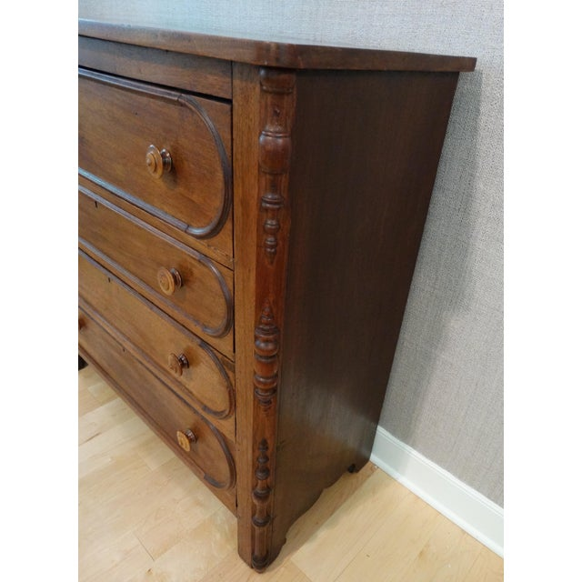 Antique 1800s 4-Drawer Mahogany Chest - Image 4 of 8