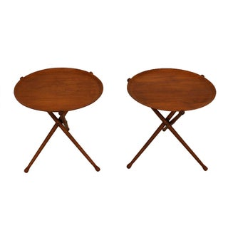 Nils Trautner Swedish Collapsible Tray Tables Pair