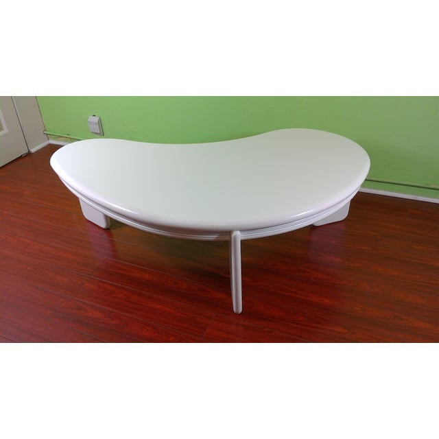 Kidney Shaped Coffee Table - Image 4 of 11