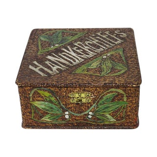 Antique Arts & Crafts Hankerchief Box
