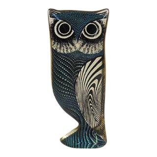 1960s Lucite Op Art Owl