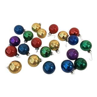 Holiday Glass Christmas Balls Ornaments - Set of 21