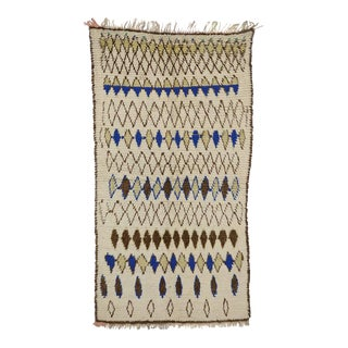 Vintage Berber Moroccan Rug with Modern Tribal Style, Azilal Rug