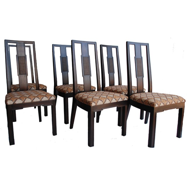 John Widdicomb Burl Walnut Dining Chairs - S/6 - Image 1 of 10