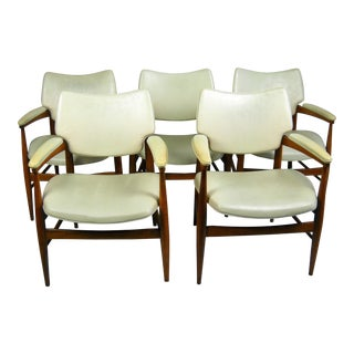 Mid-Century Modern Thonet 7400 Armchairs, Set of 5