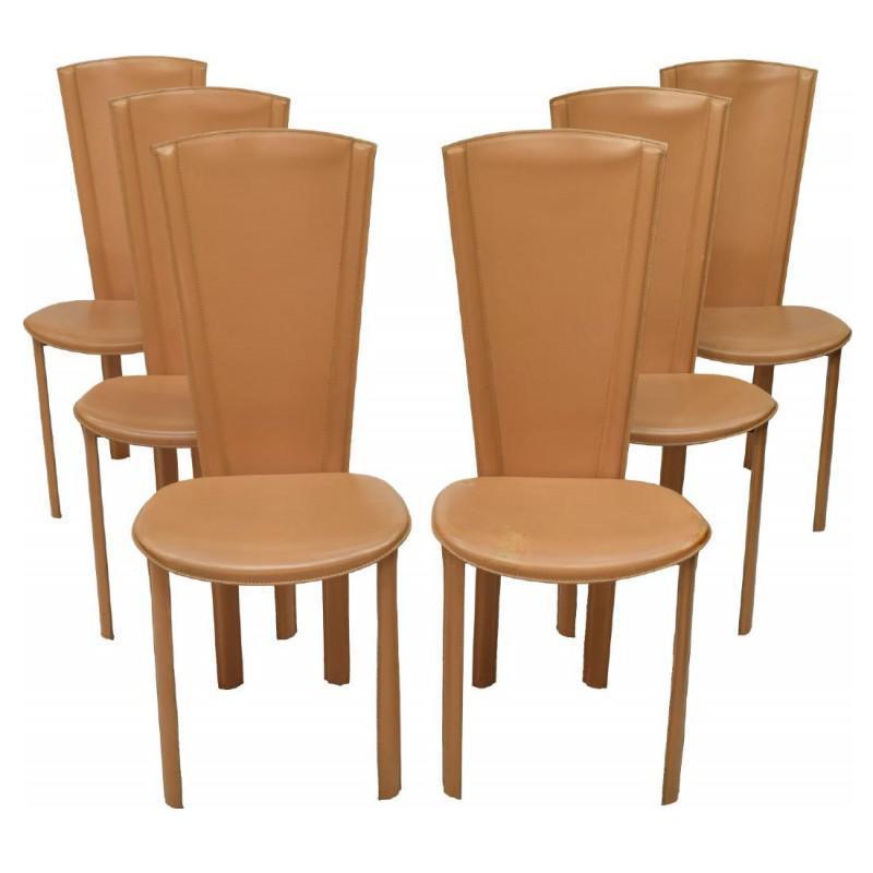 Delightful Italian Mid Century Dining Chairs   Set Of 6
