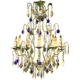 Italian Glass Maria Theresa Style Chandelier