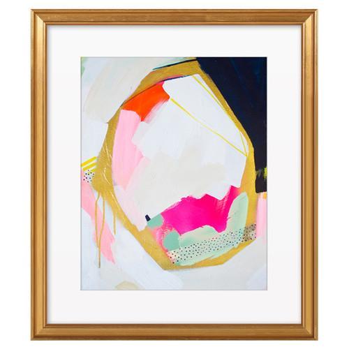 """Navy Geo"" by Britt Bass Turner, Gold Framed Print - Image 1 of 2"