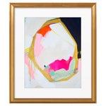 "Image of ""Navy Geo"" by Britt Bass Turner, Gold Framed Print"