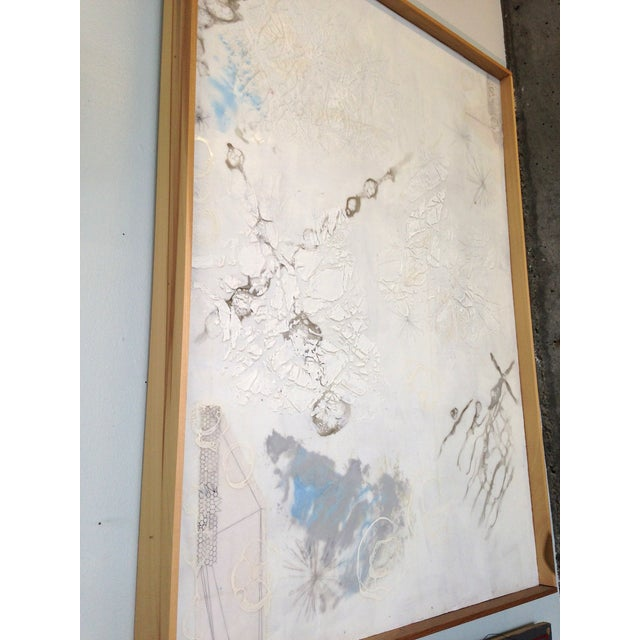 Image of White Neutral Monochromatic Encaustic Painting
