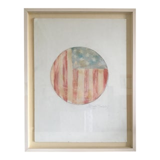 1997 American Flag Painting