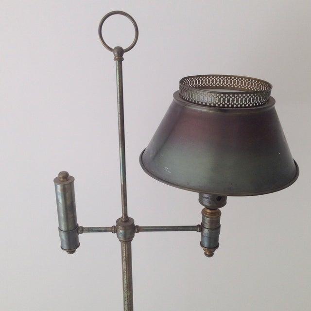 Bronze Colored Tole Floor Lamp - Image 3 of 11