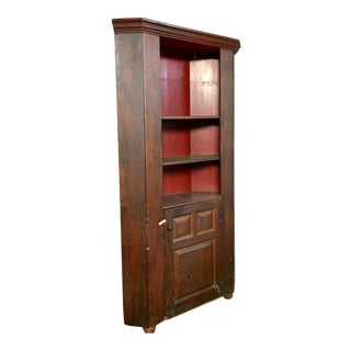 Primitive Antique Pine Corner Cabinet