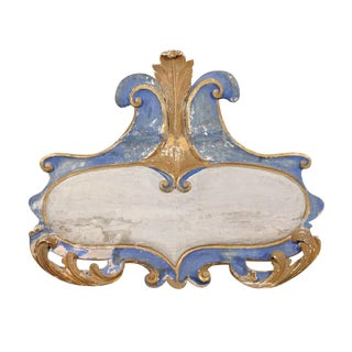 A 19th Century Italian Rococo Style Painted Wood Cartouche