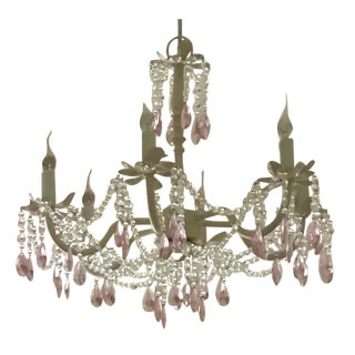 Restoration Hardware Pink Crystal Chandelier